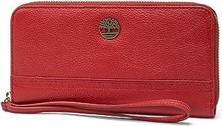 Timberland 添柏岚 女式皮革 RFID 环绕拉链钱包手拿包带腕带