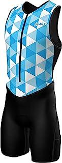 Sparx 男式高级铁人三项套装带衬垫铁人三项套装比赛套装游泳自行车跑步