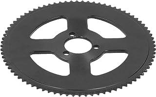 YUANJS 曲柄组链轮,黑色圆盘 25H 三孔 80T 曲柄组内径 29mm 链轮适用于电动滑板车