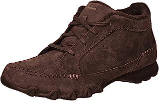 Skechers Bikers-Lineage-Moc-Toe 系带马球靴
