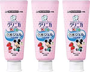 Clinica Kid's 啫喱牙膏 草莓味 60g 3个装 非医药用品