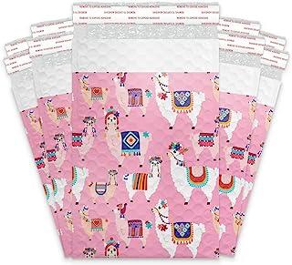 #0 15.24x22.56 (20 件)Llamas 设计师自封聚乙烯气泡邮寄袋装填袋