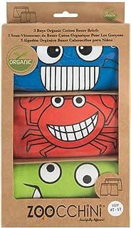 Zoocchini【日本正品】平角裤 有机棉 Boys 蓝色/红色/绿色 3条装 多色 2-3歳