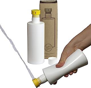 CuloClean 便携式坐浴盆,带水壶,适用于厕所或旅行(黄色)与每个瓶子兼容。谨慎、生态、迷你、老人、喷雾器、生物、个人、手持式