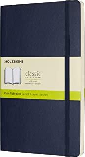 Moleskine 软面纯白宝蓝色笔记本(大型)