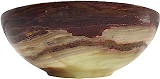 4 英寸(约 10.2 厘米)美丽的玛瑙碗 - 手工雕刻 - 来自巴基斯坦 - 污迹碗 - 水晶石碗 - 供应碗 - 祭坛碗 - 石碟