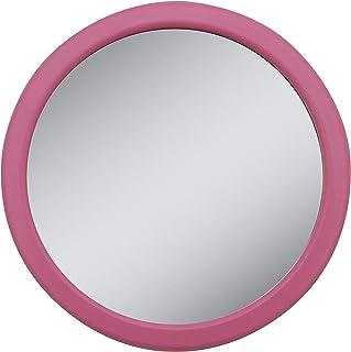 Zadro 12X 放大 E-Z Grip 小巧斑点旅行化妆镜,粉色
