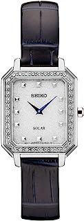 Seiko 精工 女式 不锈钢牛皮表带手表 银色