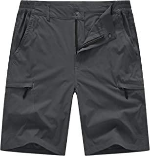 BASUDAM 男式工装徒步短裤弹力速干轻便工作短裤 6 个口袋适合露营旅行