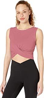 亚马逊品牌 - Core 10 女士 (XS-3X) 比马棉混纺前结剪裁瑜伽背心