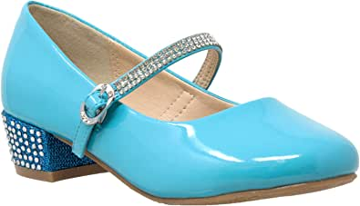 SOBEYO 儿童礼服鞋水钻带低跟玛丽珍女鞋高跟鞋 SBO-MARY-48
