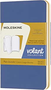 Moleskine Volant 笔记本 线条的 Large/A5 vergissmeinnicht blau/bernsteingelb