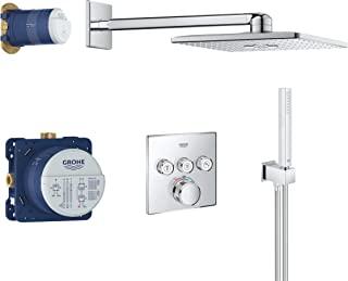 GROHE 高仪 Grohtherm Smartcontrol 淋浴系统套装 34706000 包括暗装恒温器,Rapido SmartBox,淋浴软管,手持花洒,镀铬