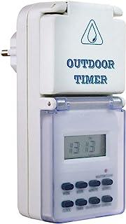 as - Schwabe 数字定时器户外范围 - 可靠和舒适家居 - 数字户外定时器带插座 - 带周程序和随机功能 - IP44 I 24033