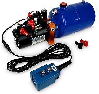 TEMCo HP0010 12V DC 液压动力单元/自卸拖车泵 6 夸脱 Power Up/重力*(单动)
