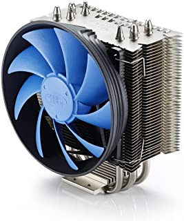 DEEPCOOL CPU Cooler 4 heatpipes 120 mm PWM 风扇带蓝色 LED 通用插座 MS gammaxx 400
