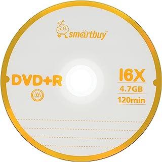 Smart Buy 100 件装 DVD+R 4.7GB 16x 标志空白数据视频电影可录音光盘,100 张光盘 100 张