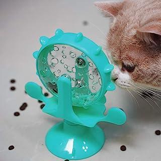 猫咪拼图喂食器 - 旋转互动猫玩具自动猫玩具室内猫日常锻炼游戏多猫家庭保持猫快乐避免损坏家具,适合猫 Bul