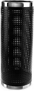 "Brelso 优质伞架,多孔雨伞架,黑色抛光金属 Stainless Steel Rim 16"" Tall BBMS16-19"