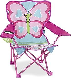 Melissa & Doug 可爱蝴蝶露营椅,粉色(96423)