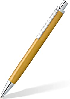 STAEDTLER 圆珠笔 triplus 444 M,颜色 Glorious Gold,符合人体工程学的三角形,高品质金属外壳,大容量笔芯M,书写颜色为蓝色,444 M11-3