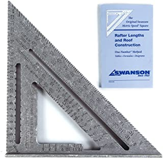 Swanson Tools EU202 25 厘米公制速度方形,带 Bl