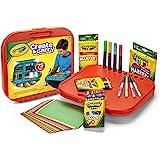 Crayola 绘儿乐 Create 'N Carry 艺术套装 为5岁及以上儿童提供的手工礼品,2合1便携式书桌和小小…