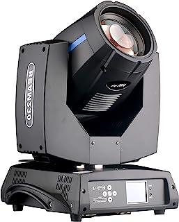 7R 230W 光束舞台移动头灯,14 支 Gobos 和 14 种颜色,彩虹效果,DMX512 控制舞台迪斯科俱乐部照明