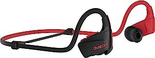 DIVACORE - Redskull - 无线运动耳机 - 室内/室外适合所有体型 - 防水、防尘、防汗 - 内置麦克风 - 10 小时电池寿命 - 红色