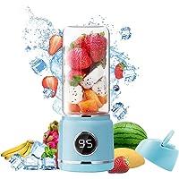 Mesouri 便携式搅拌机,榨汁机,14 盎司(约 396.9 克)个人迷你搅拌机,果汁,奶昔,冰沙,4000 mAh…