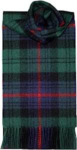 Lochcarron Armstrong 格子图案羔羊毛围巾