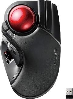 ELECOM 宜丽客 鼠标 无线(接收器附件)轨迹球 大号 8按钮 倾斜功能 黑色 M-HT1DRXBK