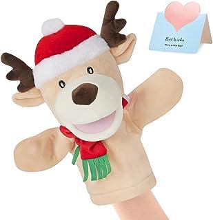 CozyWorld 动物木偶柔软手偶 毛绒玩具秀 为成人和儿童开发*礼物,10 英寸(鹿)
