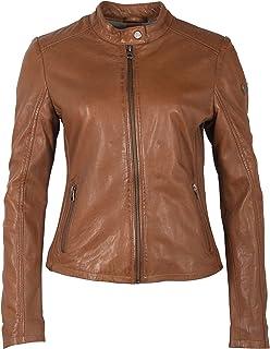 Gipsy 经典短款女士骑行者皮夹克换季夹克带立领-GWShana NSLVV