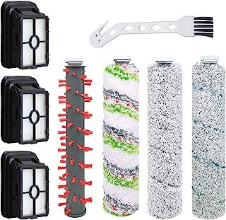 Bissell CrossWave 无绳吸尘器套装,适用于 2554A、2590、2593 和 2596 多合一干湿吸尘器(4 件装刷卷 + 3 个过滤器)