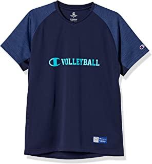 Champion 短袖T恤 减轻汗水 防粘性 吸水扩散 高透气 * 防臭 scripe 标志 排球Advance Line C3-UV321 男士