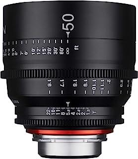 Xeen 15050T1.5SE T1.5 Cine 镜头 E连接器 50 毫米 黑色