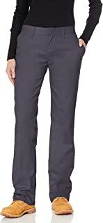 Dickies 女士防皱无褶斜纹裤,防污渍处理 炭黑色 2