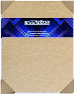 50 张沙棕色羊皮纸 65 磅封面重量纸 - 27.94 厘米 X 35.56 厘米(27.94 厘米 X 35.56 厘米)剪贴簿|图片框架尺寸 - 可打印卡片纸彩色纸旧羊皮纸