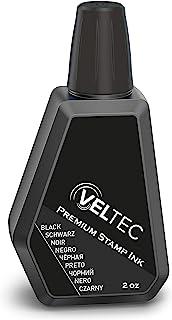Veltec 高级替换墨水,用于自注墨印章、日期签和橡胶印泥,2 盎司(约 56.7 克)(黑色)