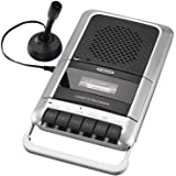 Jensen MCR-100SB 便携式盒式录音机/播放器和录音机,内置扬声器麦克风和电源适配器(限量版型号)MCR-1…