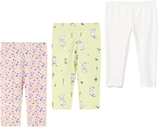 THEE BRON 幼儿/女童七分裤基本款打底裤 花朵 / 兔子 / 白色 3T