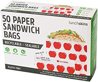 lunchskins recyclable + sealable 三明治袋, Apple (一盒50) Red Apple