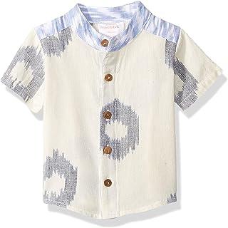 Masala 男婴 Wilder 衬衫 Ikat 圆点蓝色