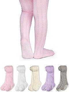 LA Active 女童紧身裤 - 2 双 - 婴儿幼儿儿童防滑/防滑棉线针织