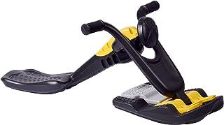 dobar 多邦 94400 Mega Cross Racer 竞技雪橇 儿童用 带转向塑料滑轮  儿童用 带刹车制动 115 × 56 × 44.5 厘米 黑色/黄色