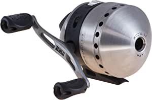 Zebco 33 抛投式渔线轮,快速设置防反转带咬合警报,平滑的表盘可调节拖动,强大的全金属齿轮,轻质石墨框架