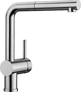 BLANCO 铂浪高 LINUS-S – 现代厨房混合龙头 带抽出式喷头 – 高压 – 拉丝不锈钢 – 517184