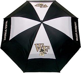 Team Golf NCAA Wake Forest Demon Deacons 62 英寸(约 157.5 厘米)高尔夫伞,带保护套,双顶防风设计,自动打开按钮