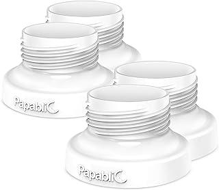 [4件装] Papablic 直接泵奶瓶适配器,适用于 Spectra S1 S2,Avent 吸奶器可与 Comotomo 婴儿奶瓶配套使用